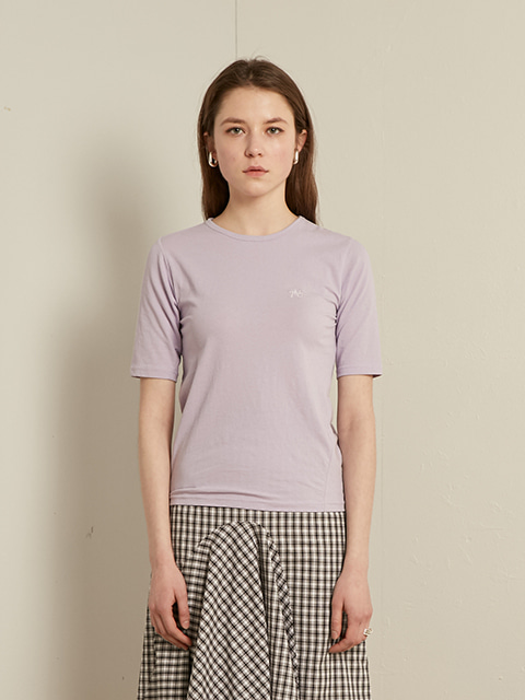 SLIM ROUND T-SHIRT (PURPLE)