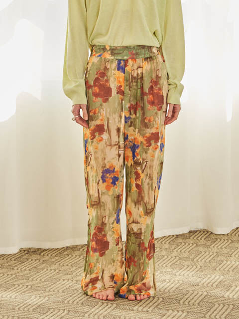 FLORAL PAINT BANDING PANTS (MULTI)
