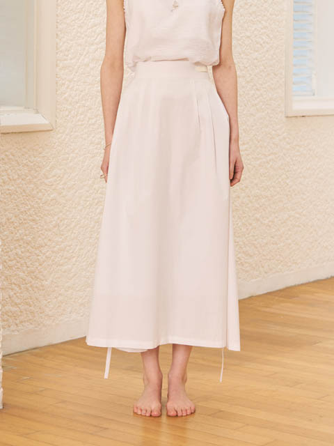 STRAP LONG SKIRT (WHITE)