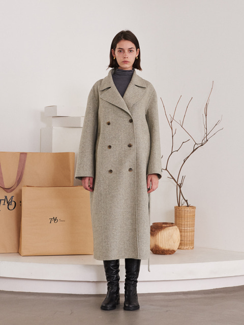 HANDMADE LONG WOOL COAT (GRAY)