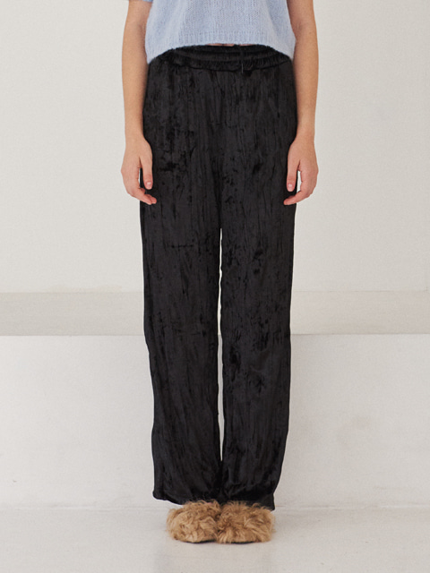 VELVET BANDING PANTS (BLACK)