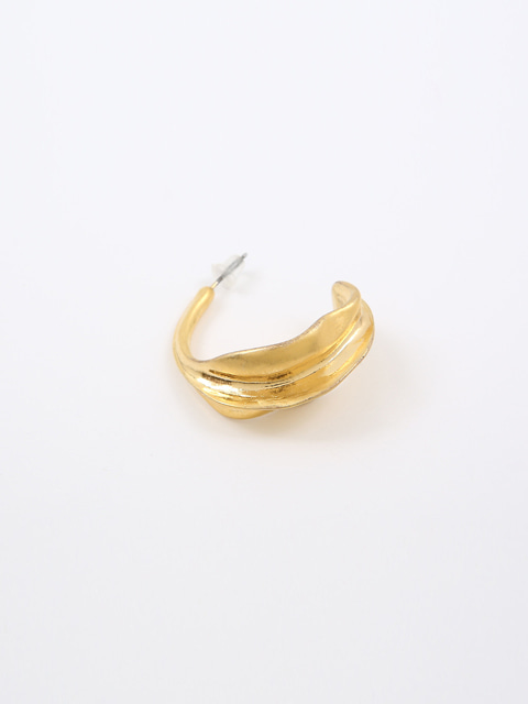 NEW MOON SHAPE GOLD RING EARRING (GOLD)
