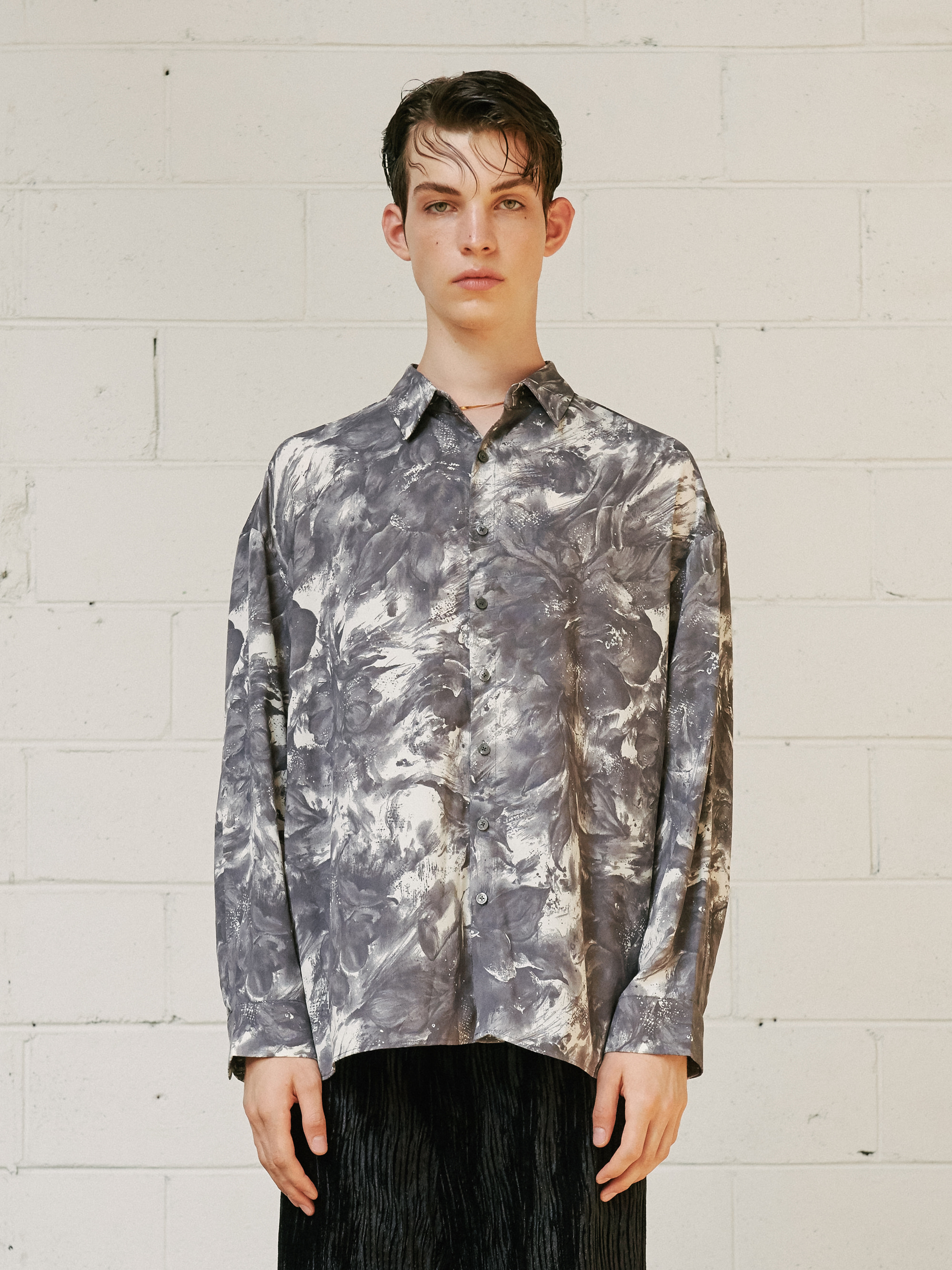 PSYCHEDELIC TIE DYE SHIRT (GRAY)