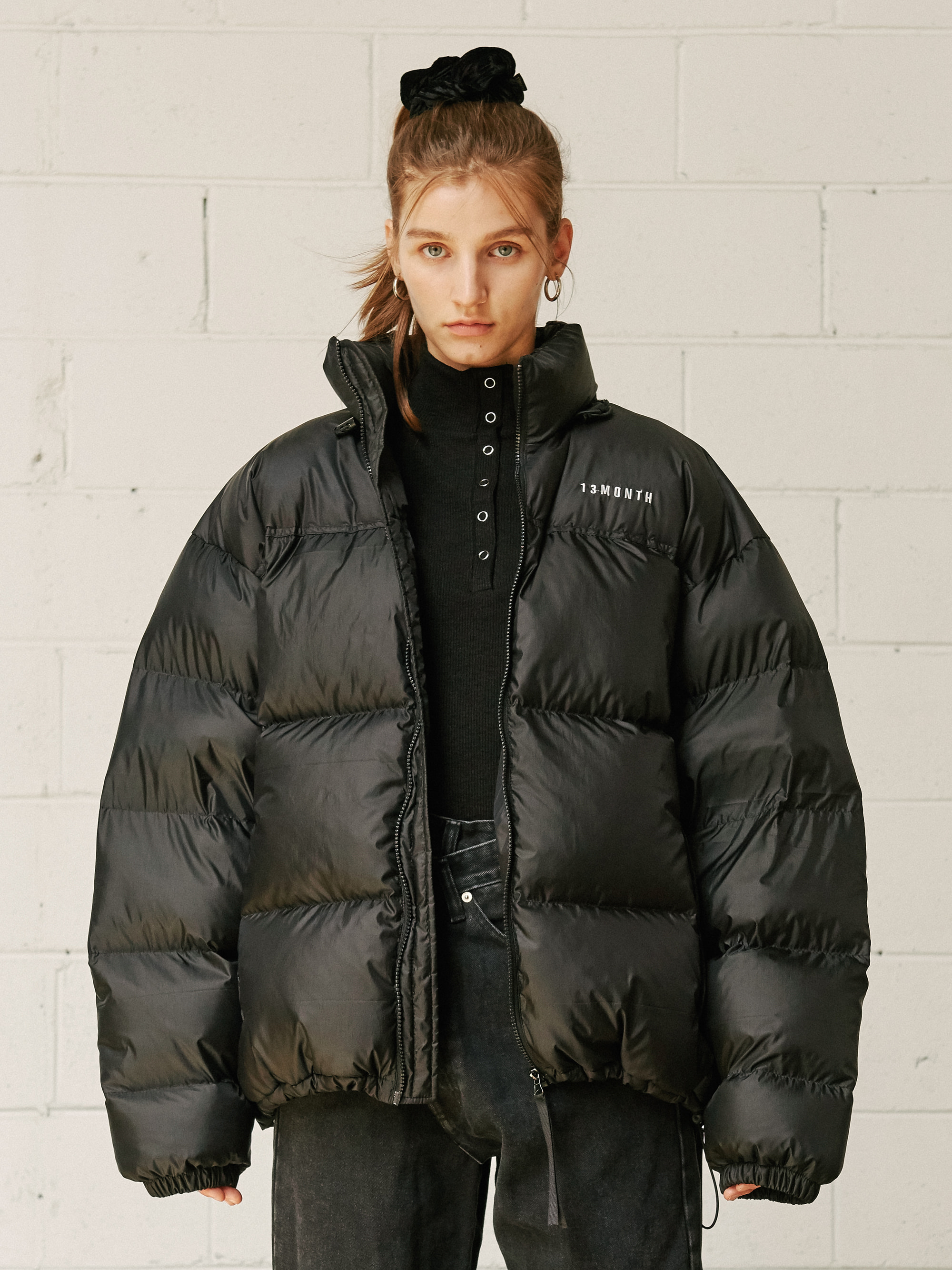 DUCK DOWN PADDED JACKET (BLACK)