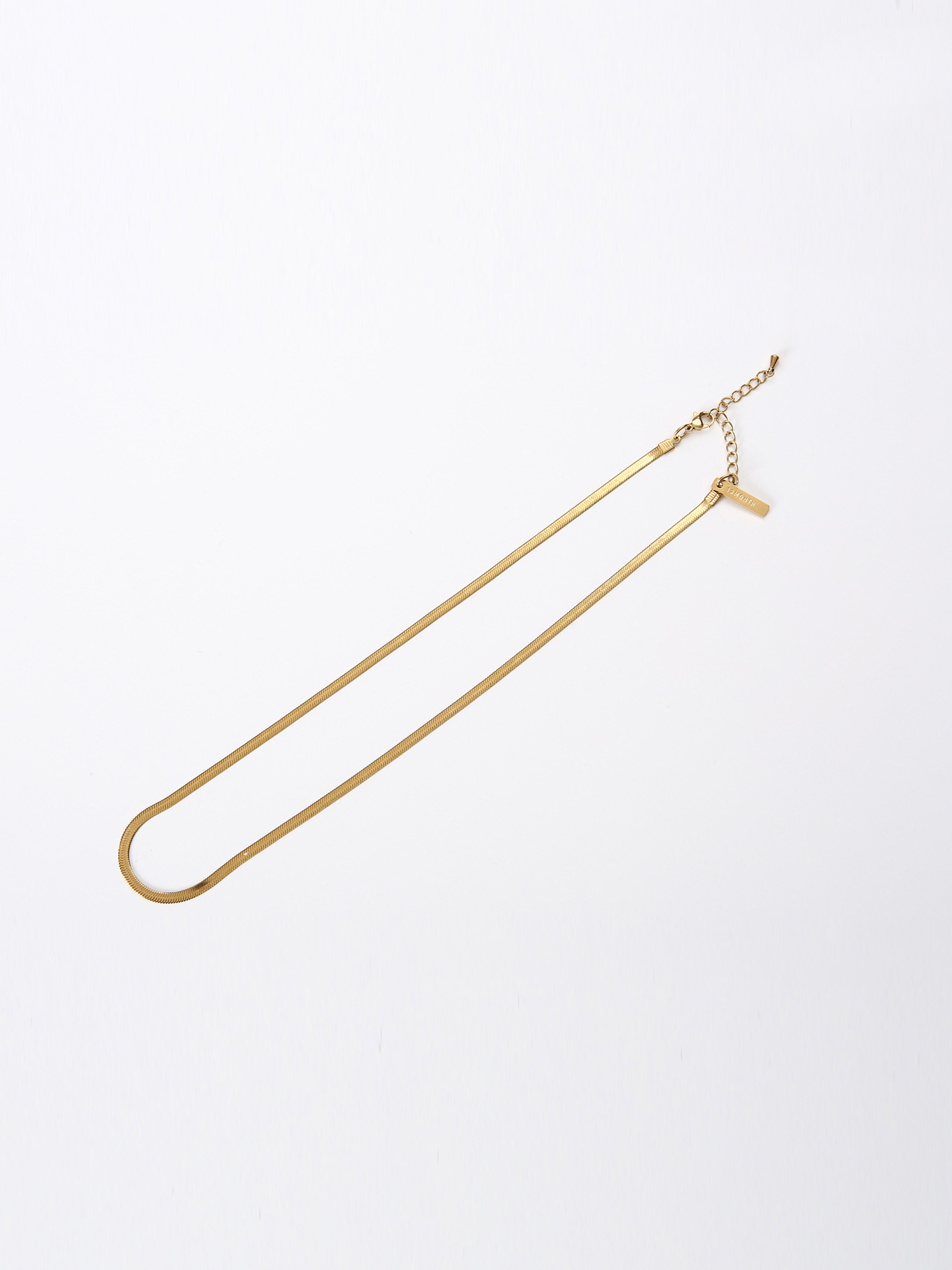 THICK FLAT SNAKE CHAIN NECKLACE (GOLD)