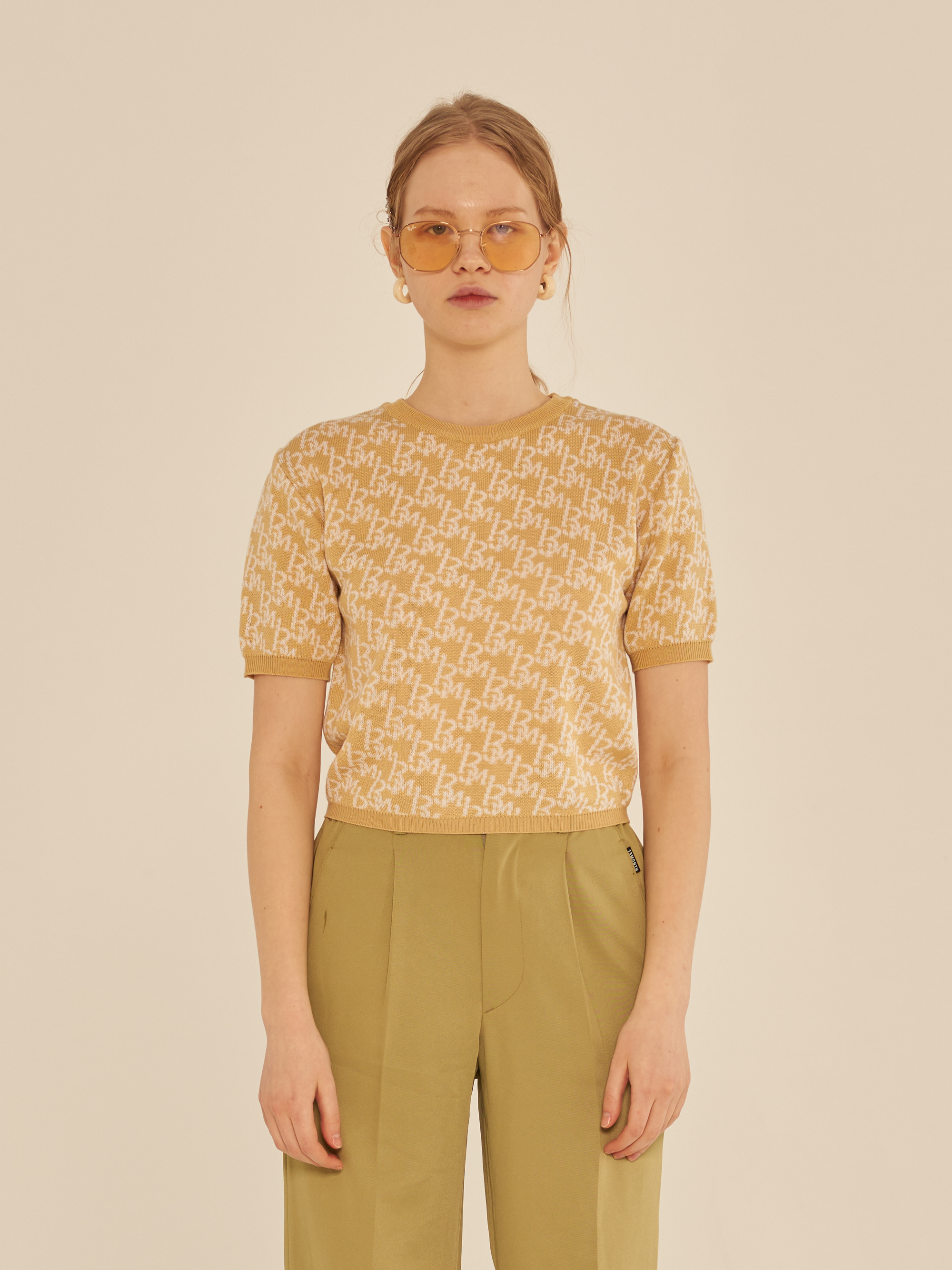 13M PATTERN T-SHIRT (YELLOW)