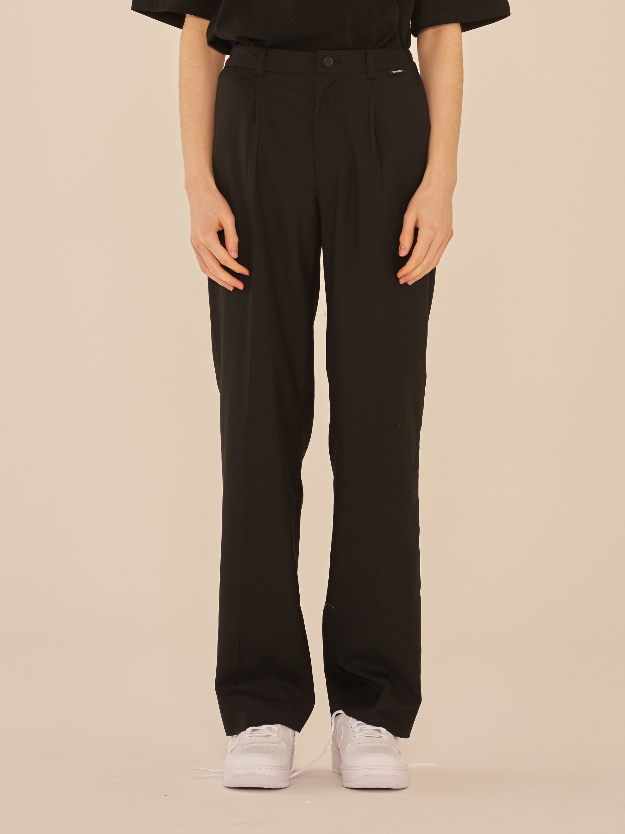 SETUP WIDE SLACKS PANTS (BLACK)