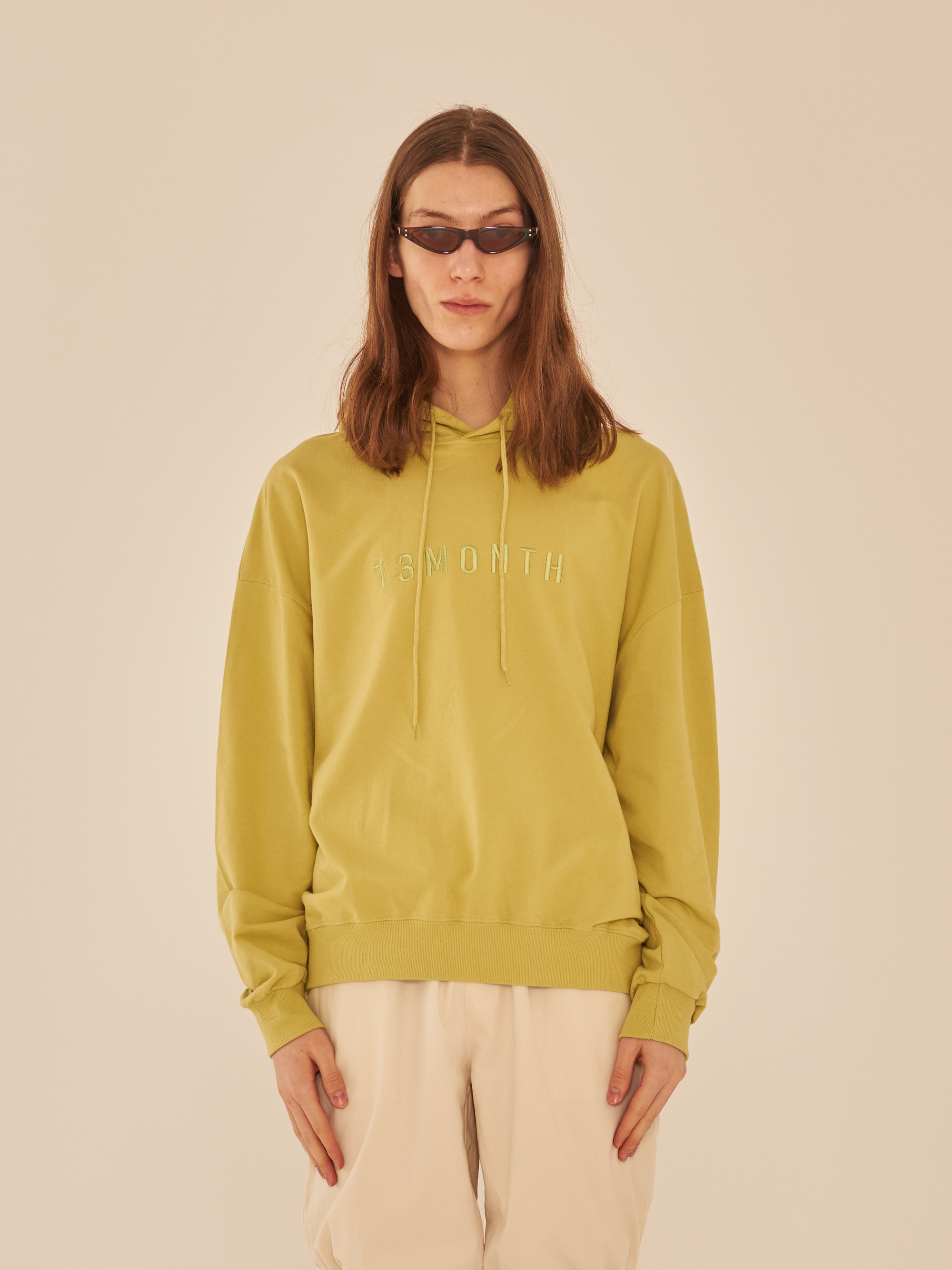 BASIC LONG SLEEVE HOOD (LIME)