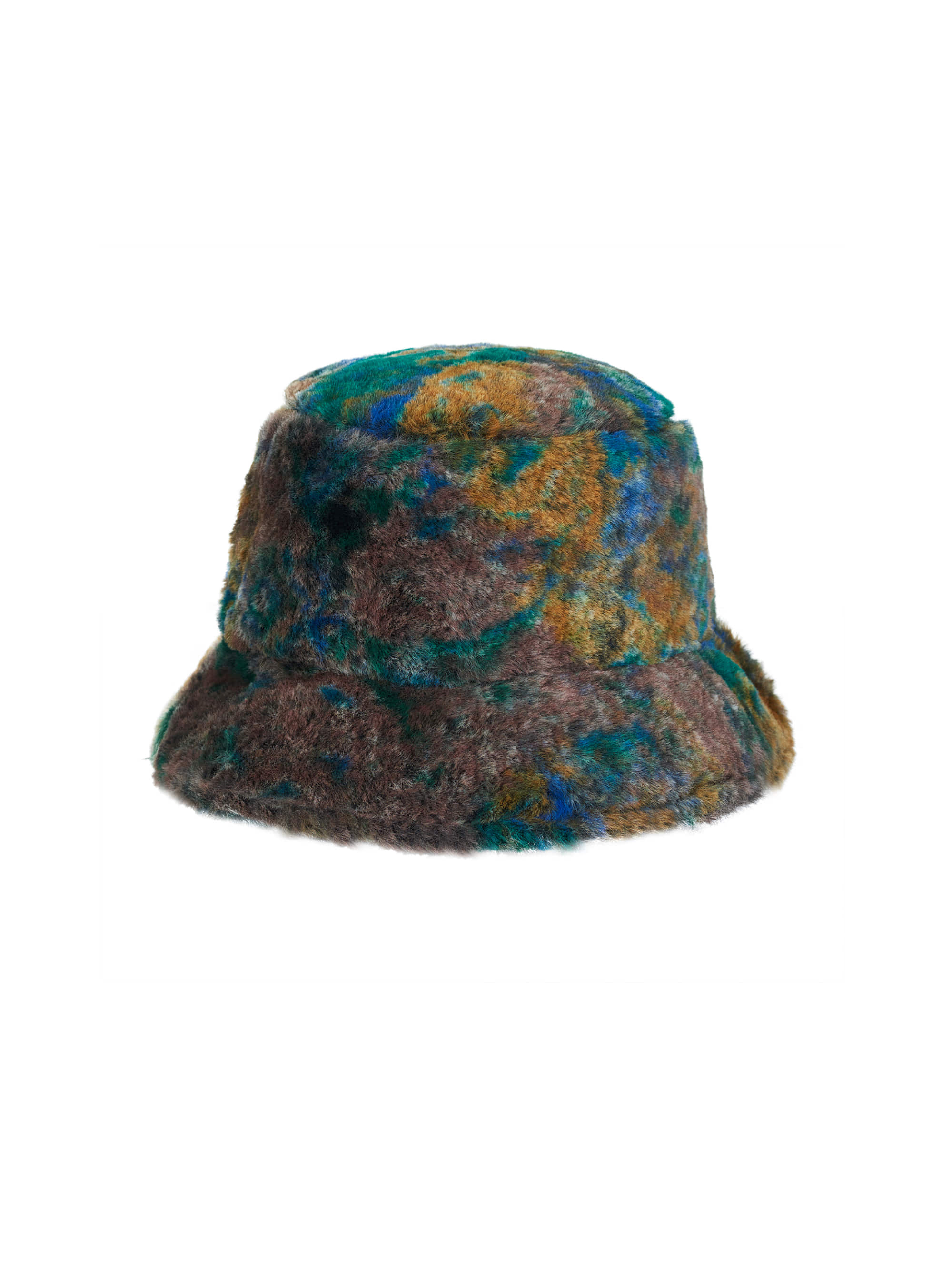 ● 3차 리오더 ● PATTERNED FUR BUCKET HAT (BROWN)