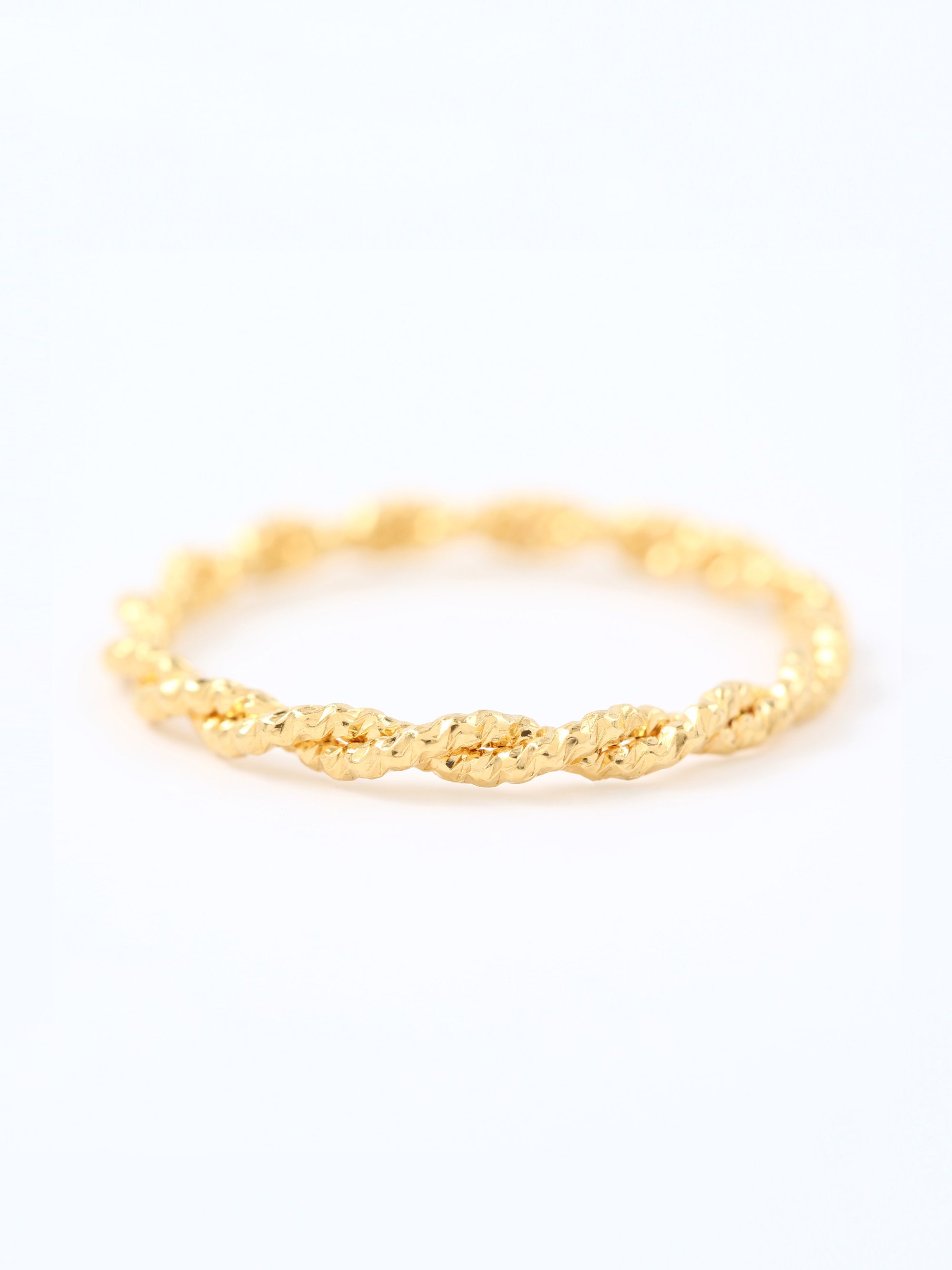 ROPE TWIST RING (GOLD)