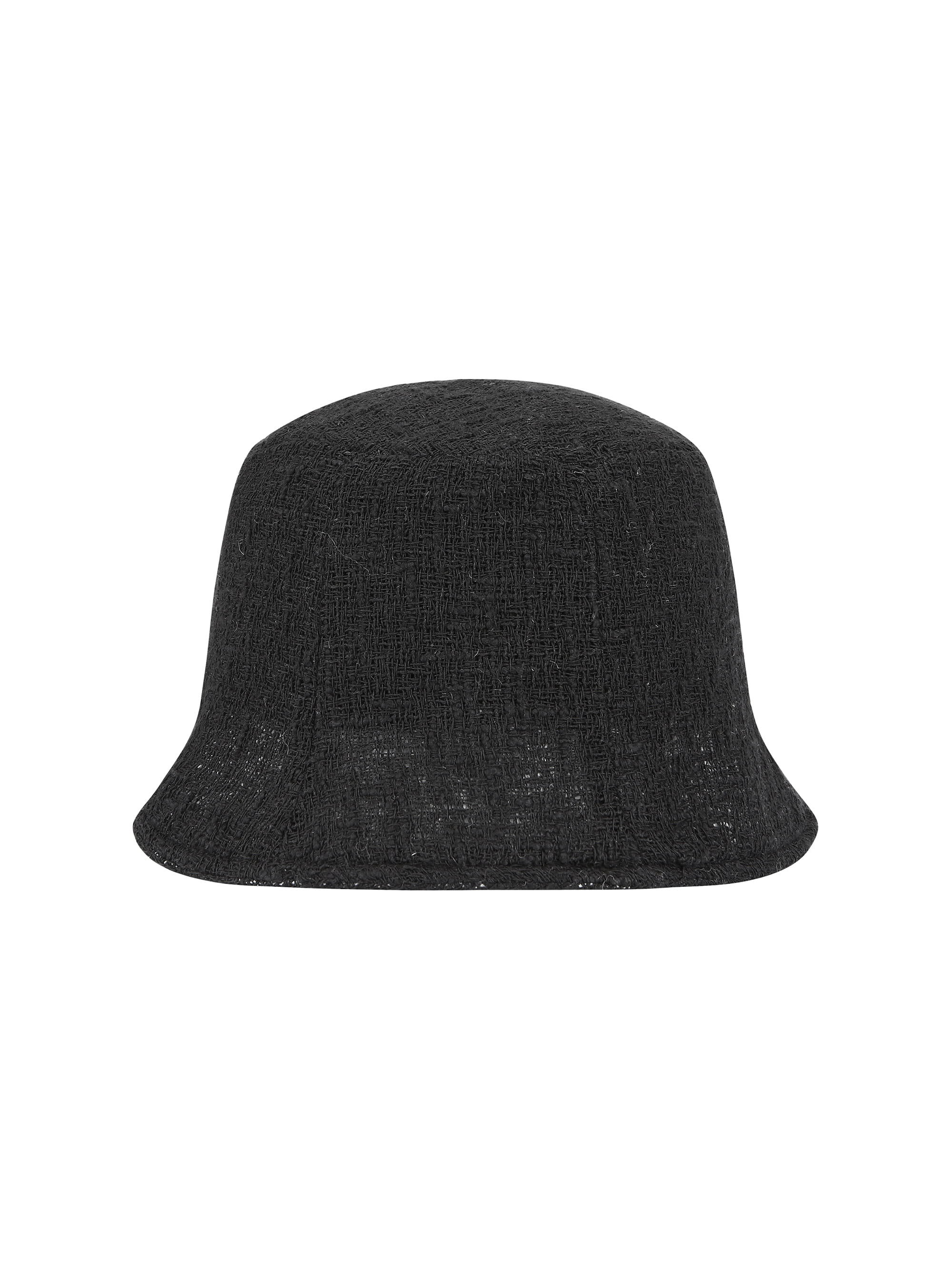 [START TO DELIVERY: 12/2] VINTAGE WOVEN BUCKET HAT (BLACK)