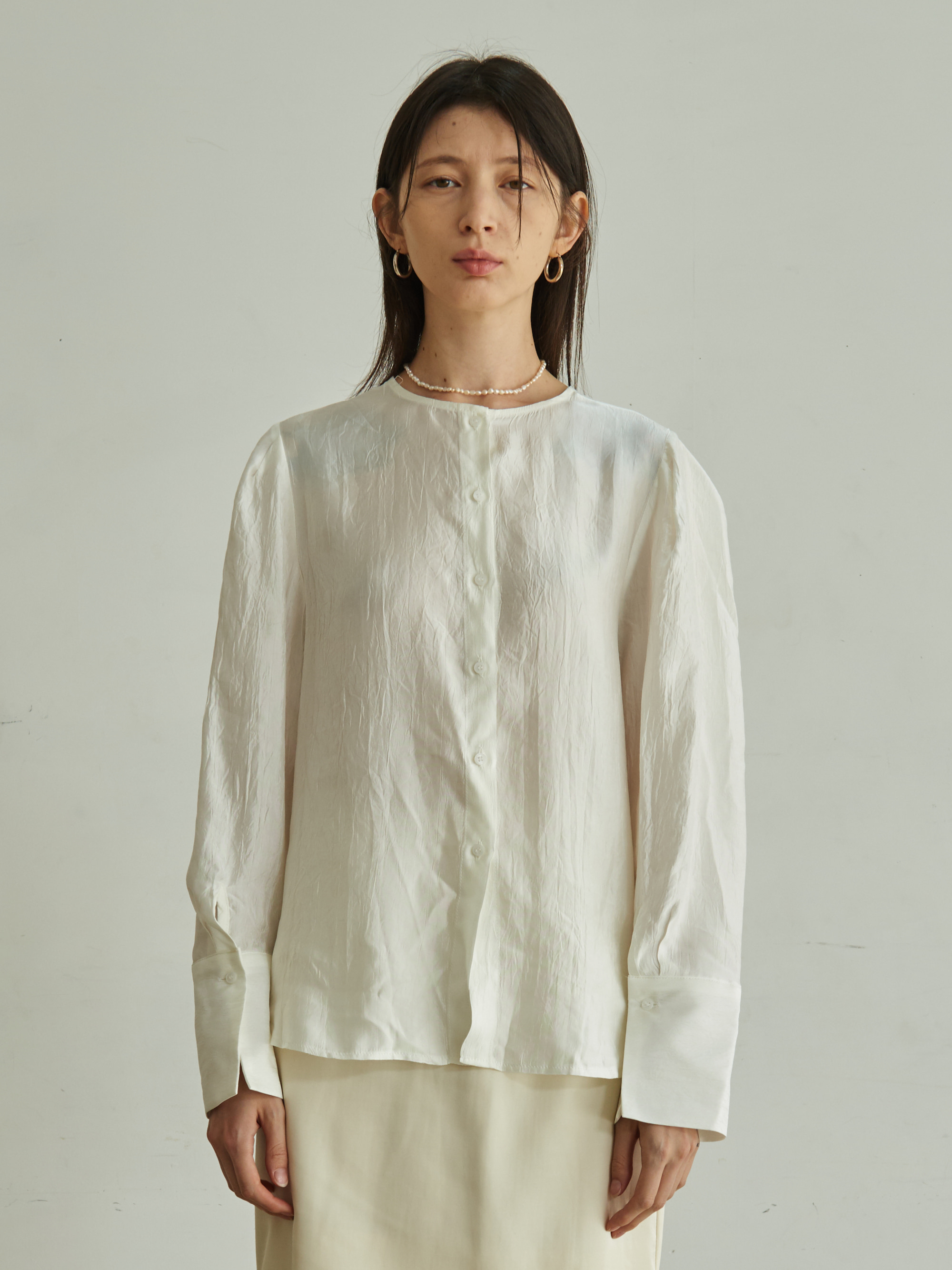 WIDE CUFF BLOUSE (IVORY)
