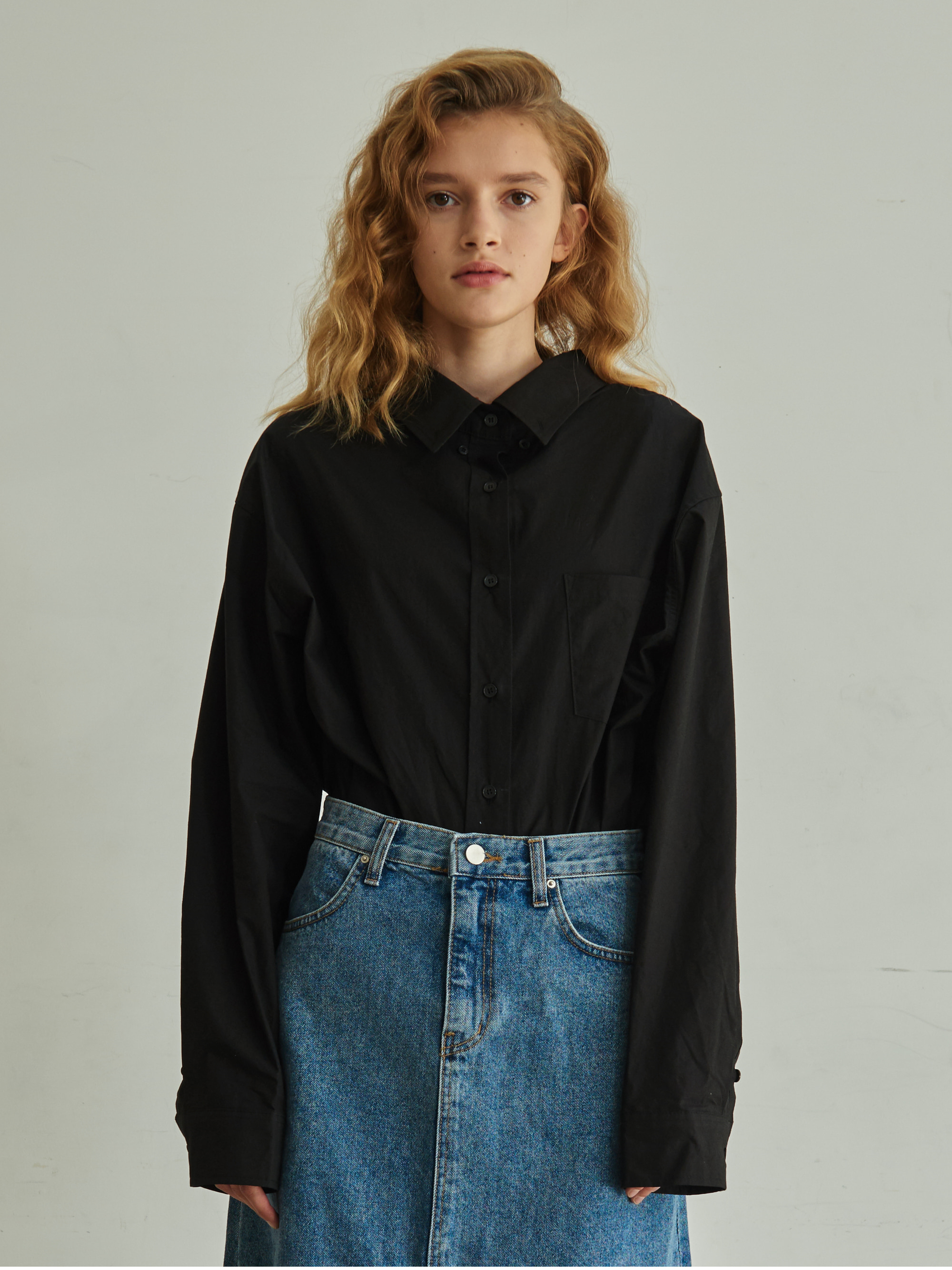 OVERSIZE BASIC SHIRT (BLACK)