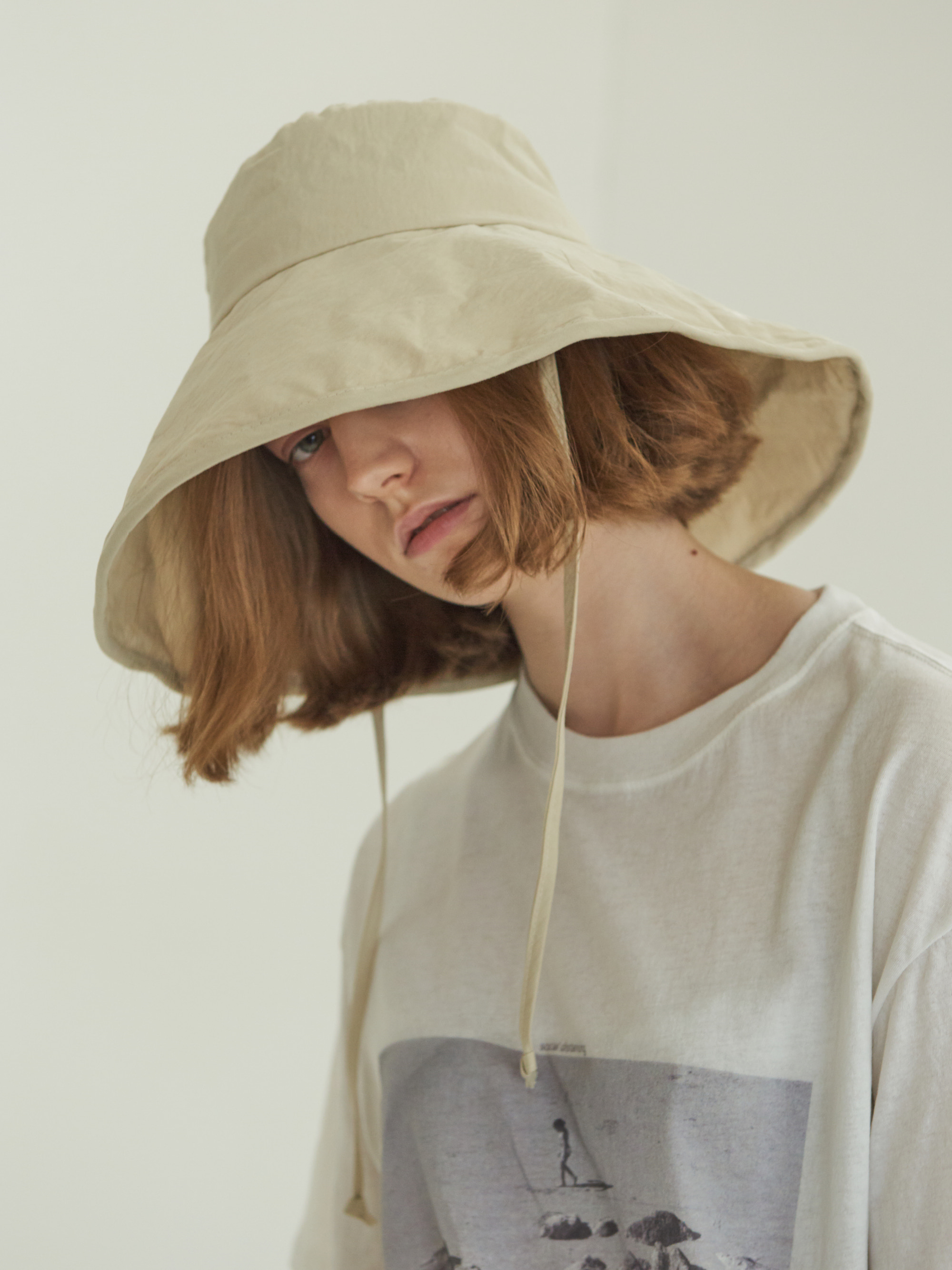 ● 3차 리오더 ● LACED BIG BUCKET HAT (BEIGE)
