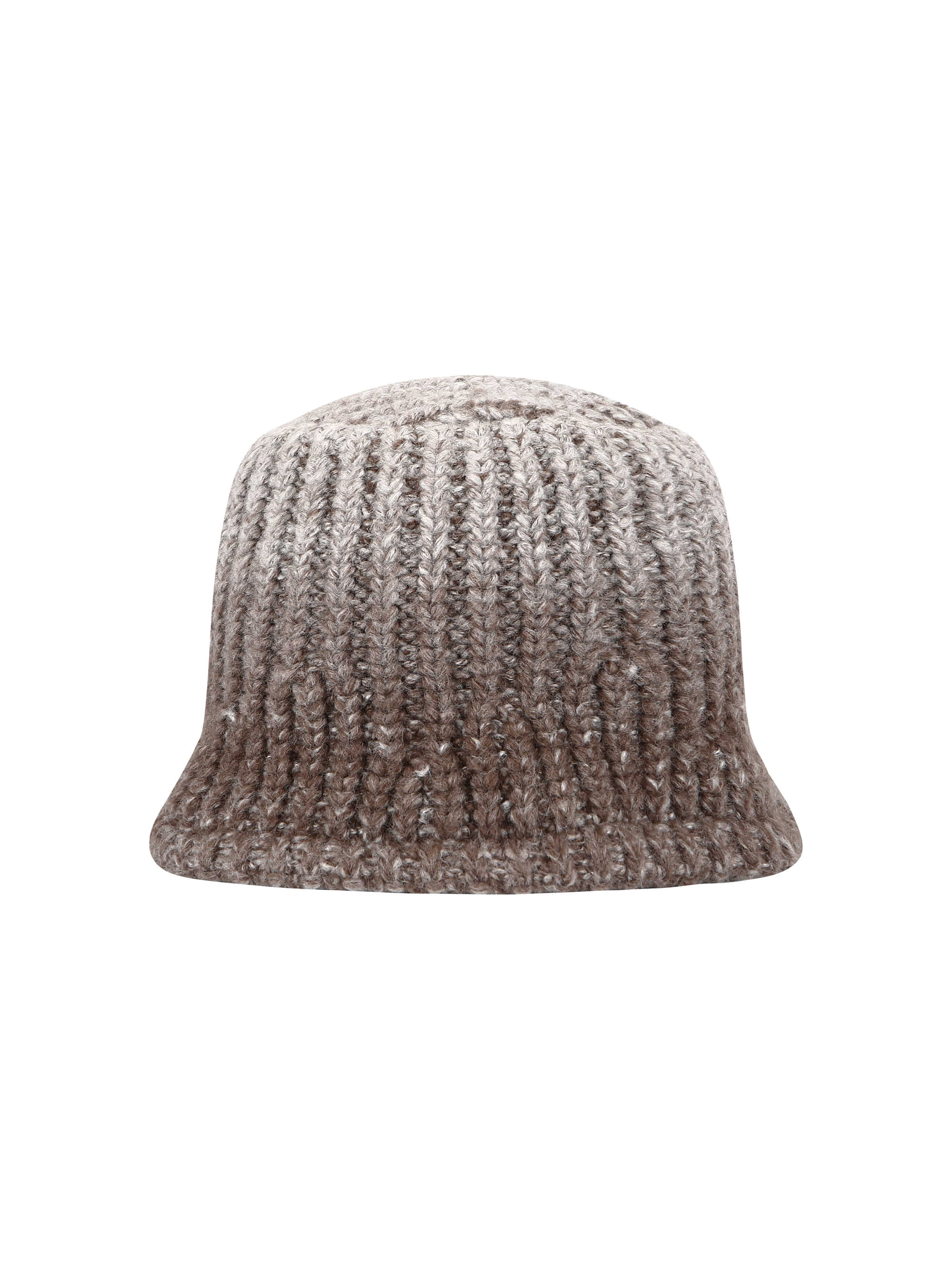 GRADATION KNIT BUCKET HAT (BROWN)