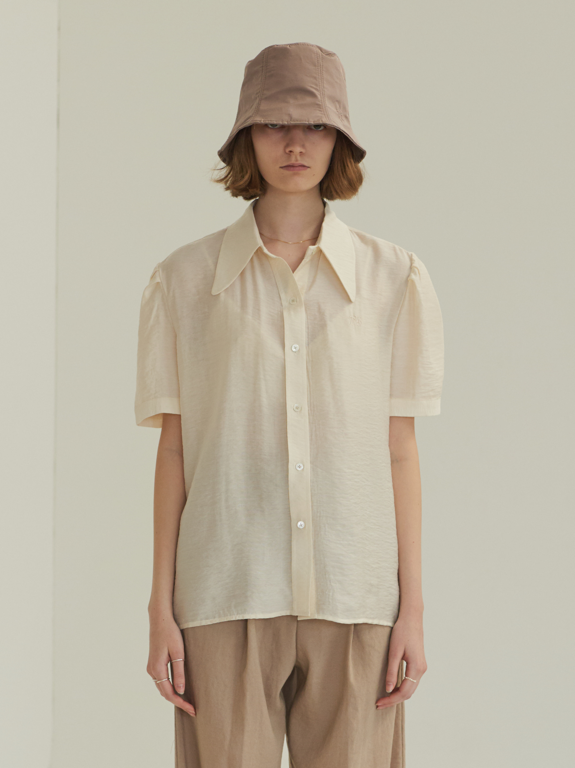 PUFF SHORT SLEEVE SHIRT (IVORY)