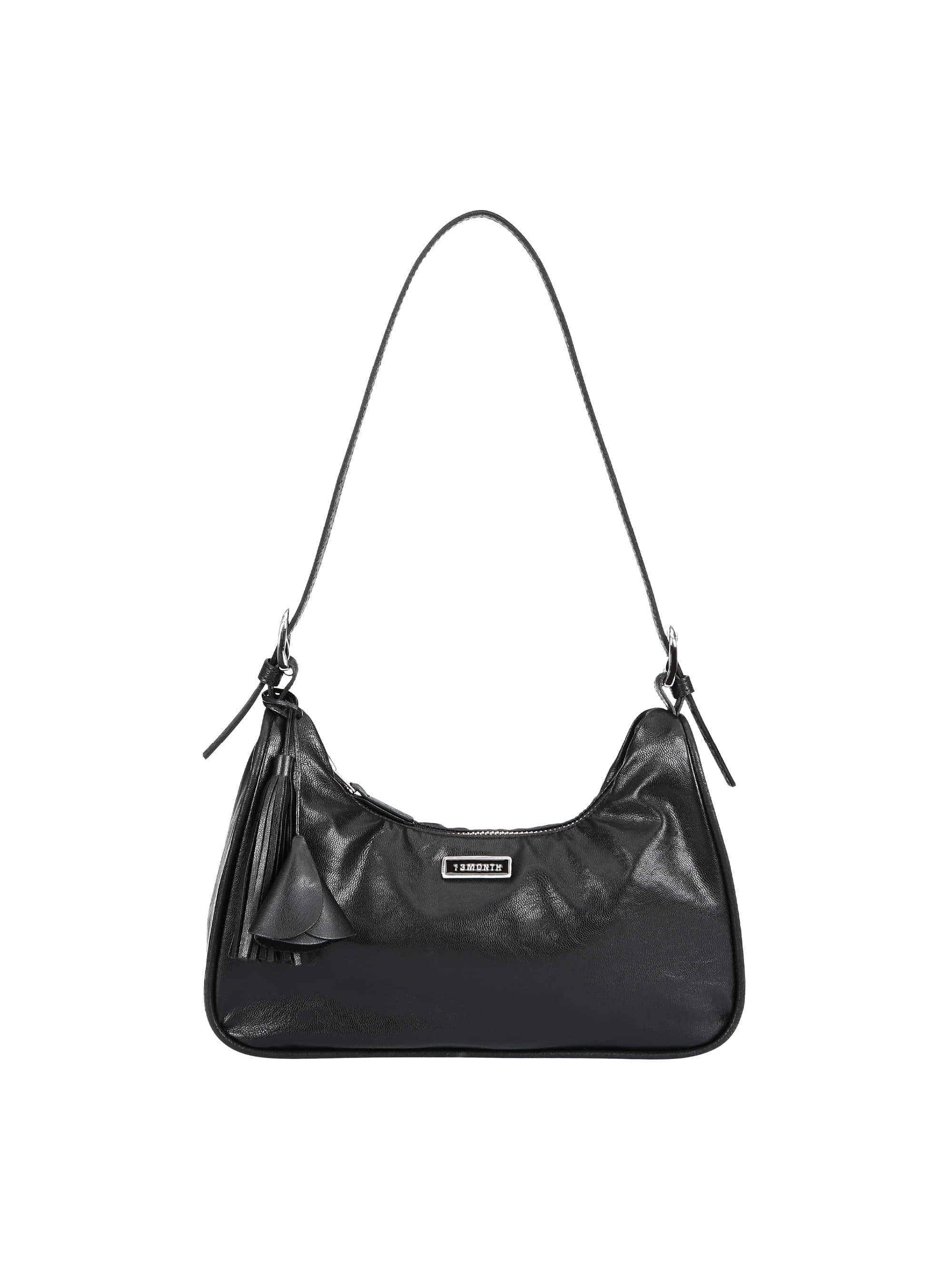 TASSEL LEATHER MINI BAG (BLACK)