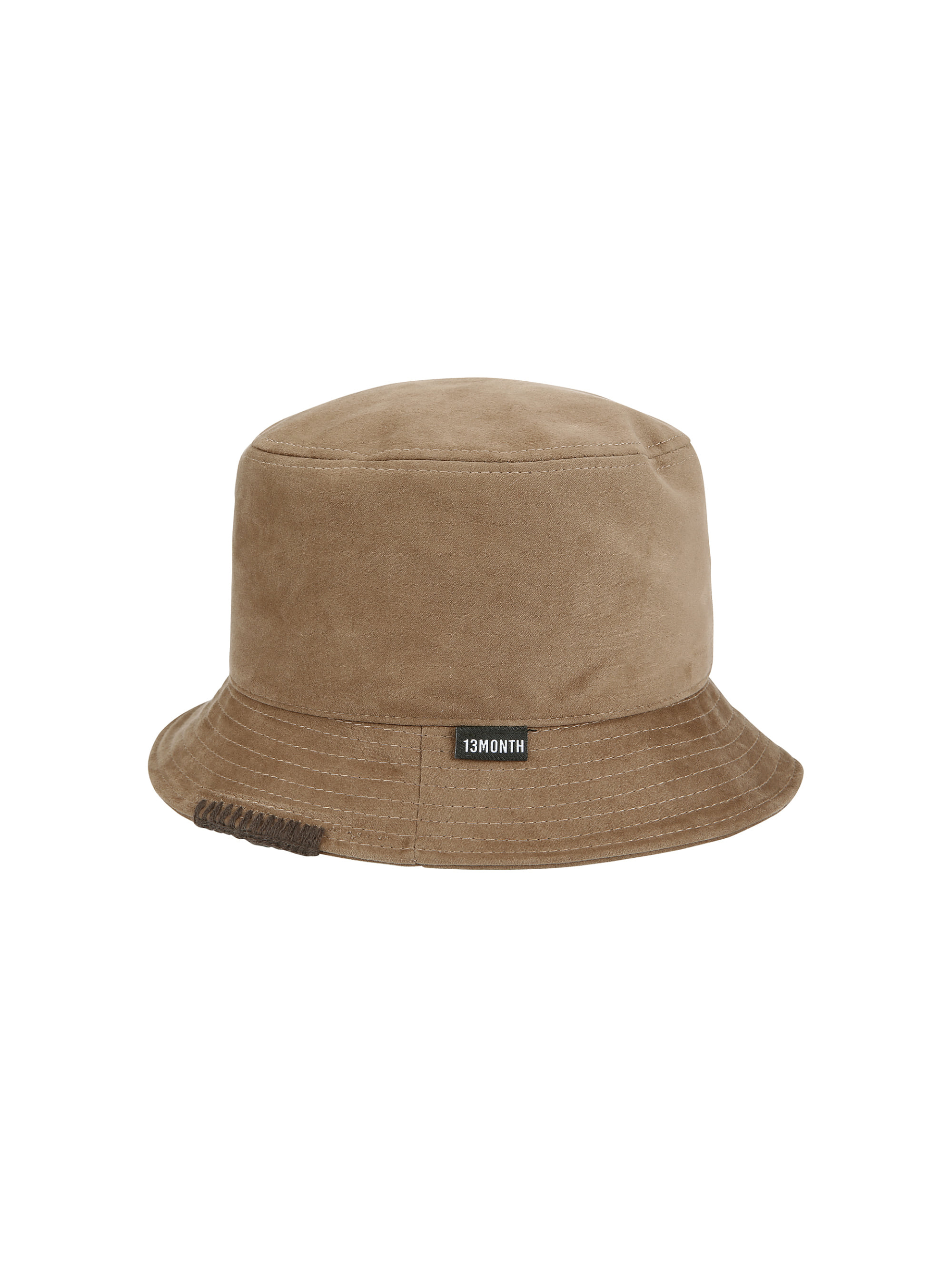 SUEDE BUCKET HAT (BROWN)