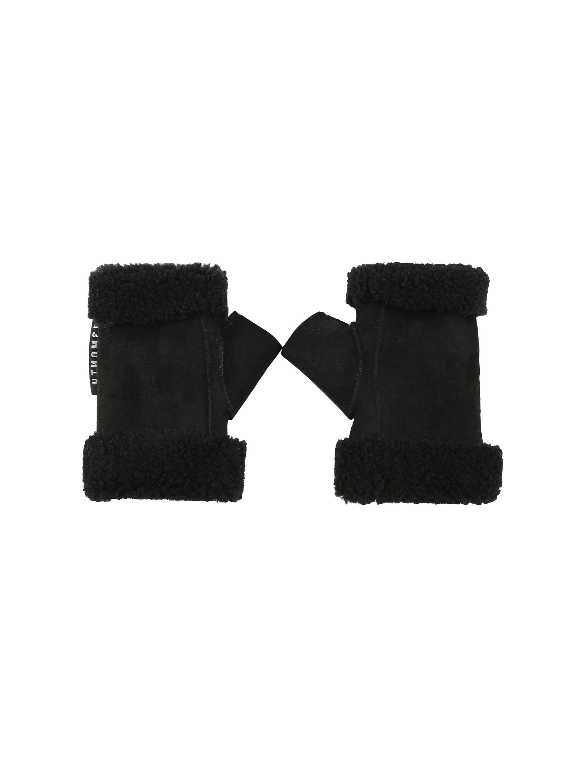 CUT OFF SUEDE GLOVE (BLACK)
