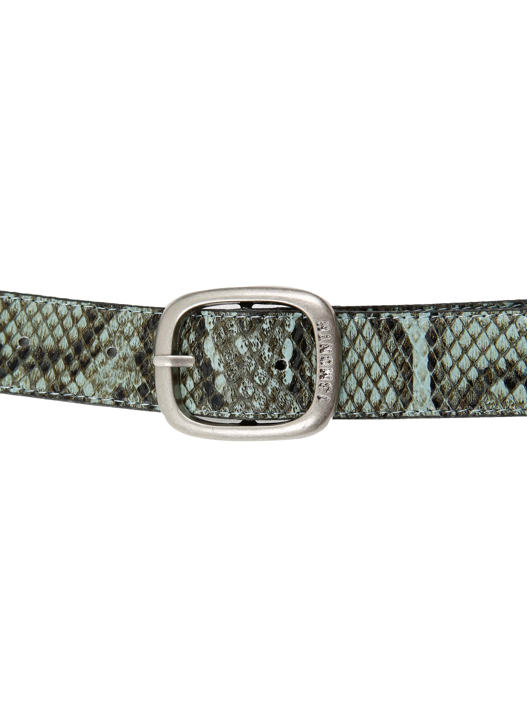 PYTHON LEATHER BELT (GREEN)