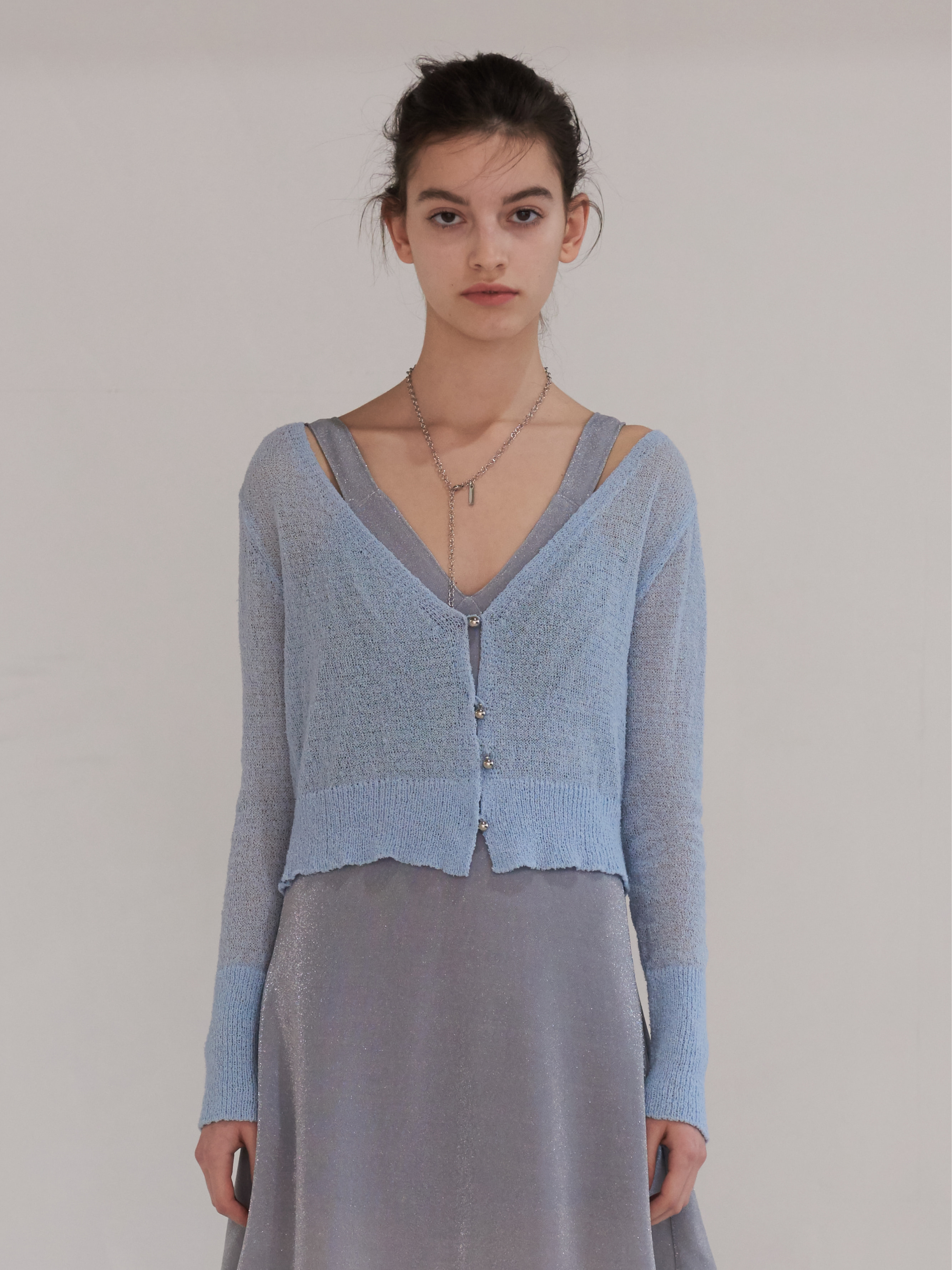 SEE-THROUGH KNIT CARDIGAN (LIGHT BLUE)