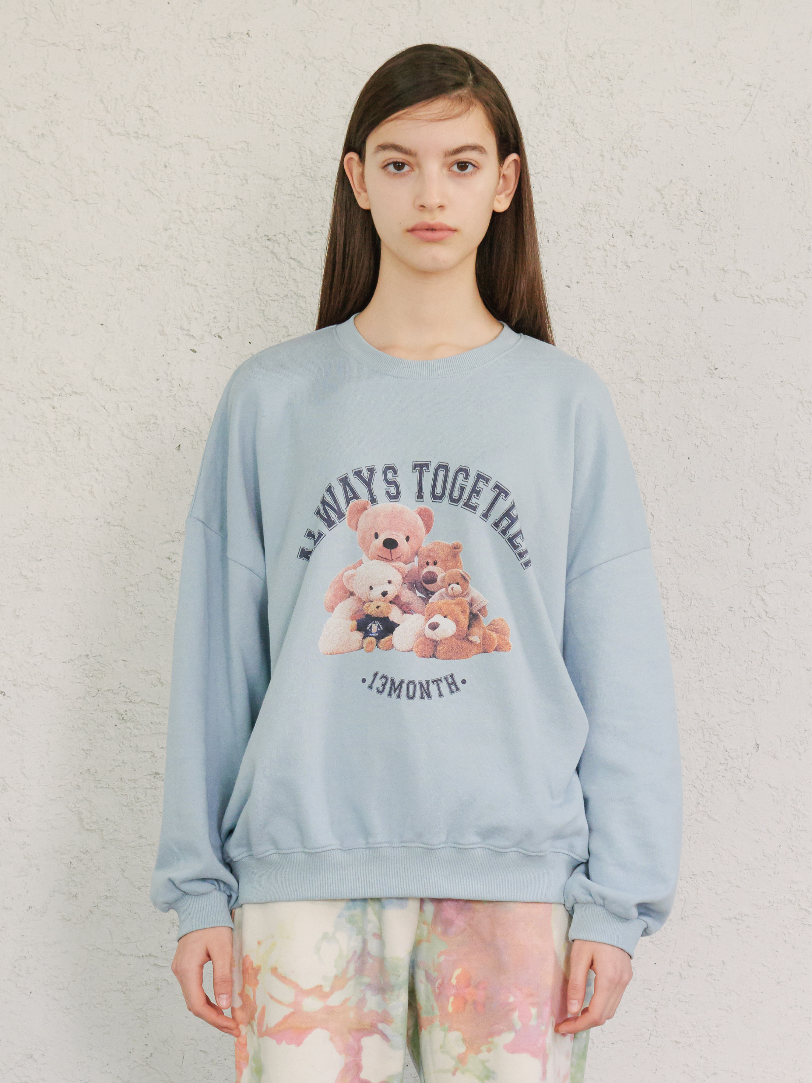 TOGETHER TEDDY SWEATSHIRT (LIGHT BLUE)