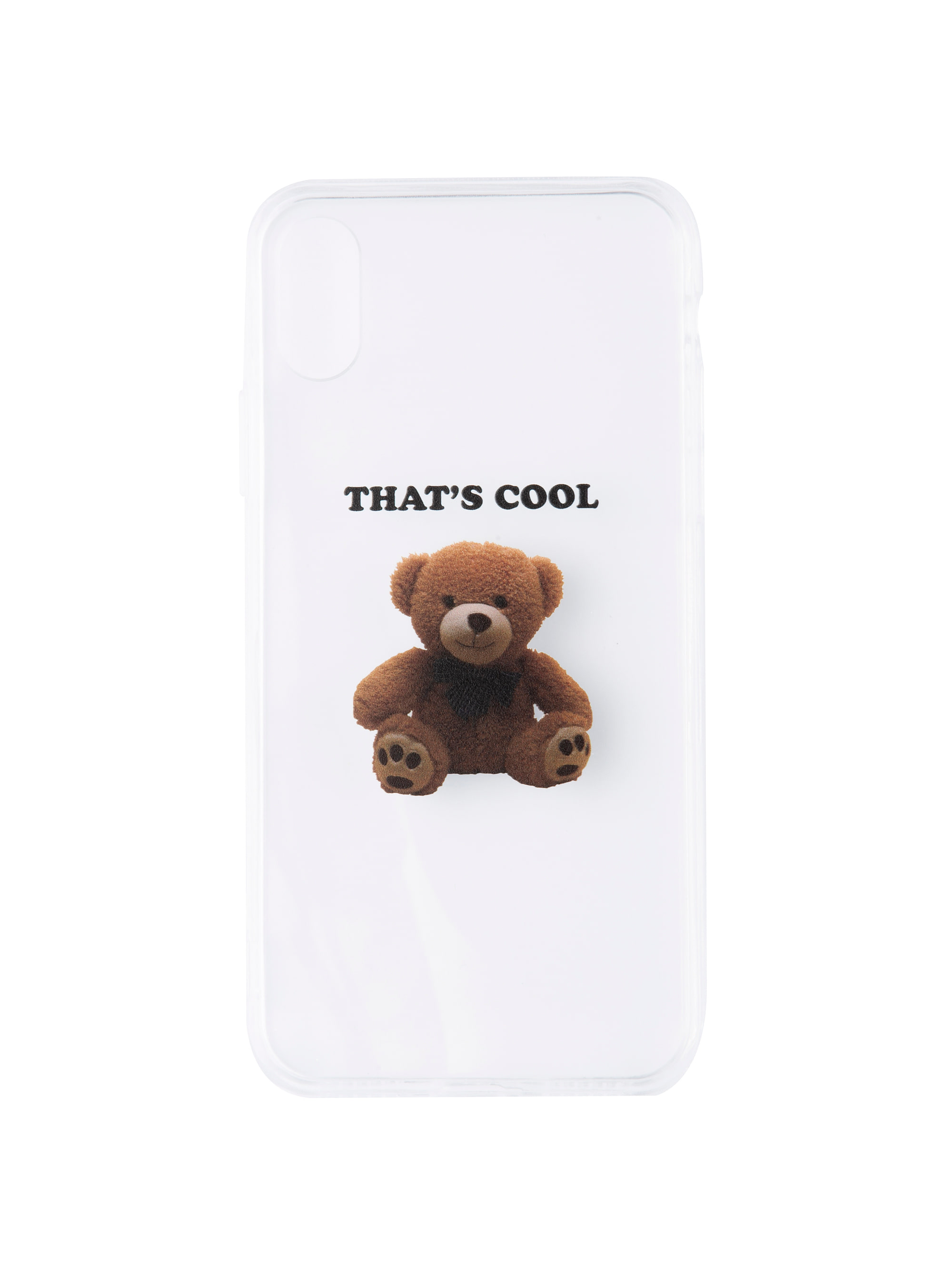 COOL TEDDY PHONE CASE (WHITE)
