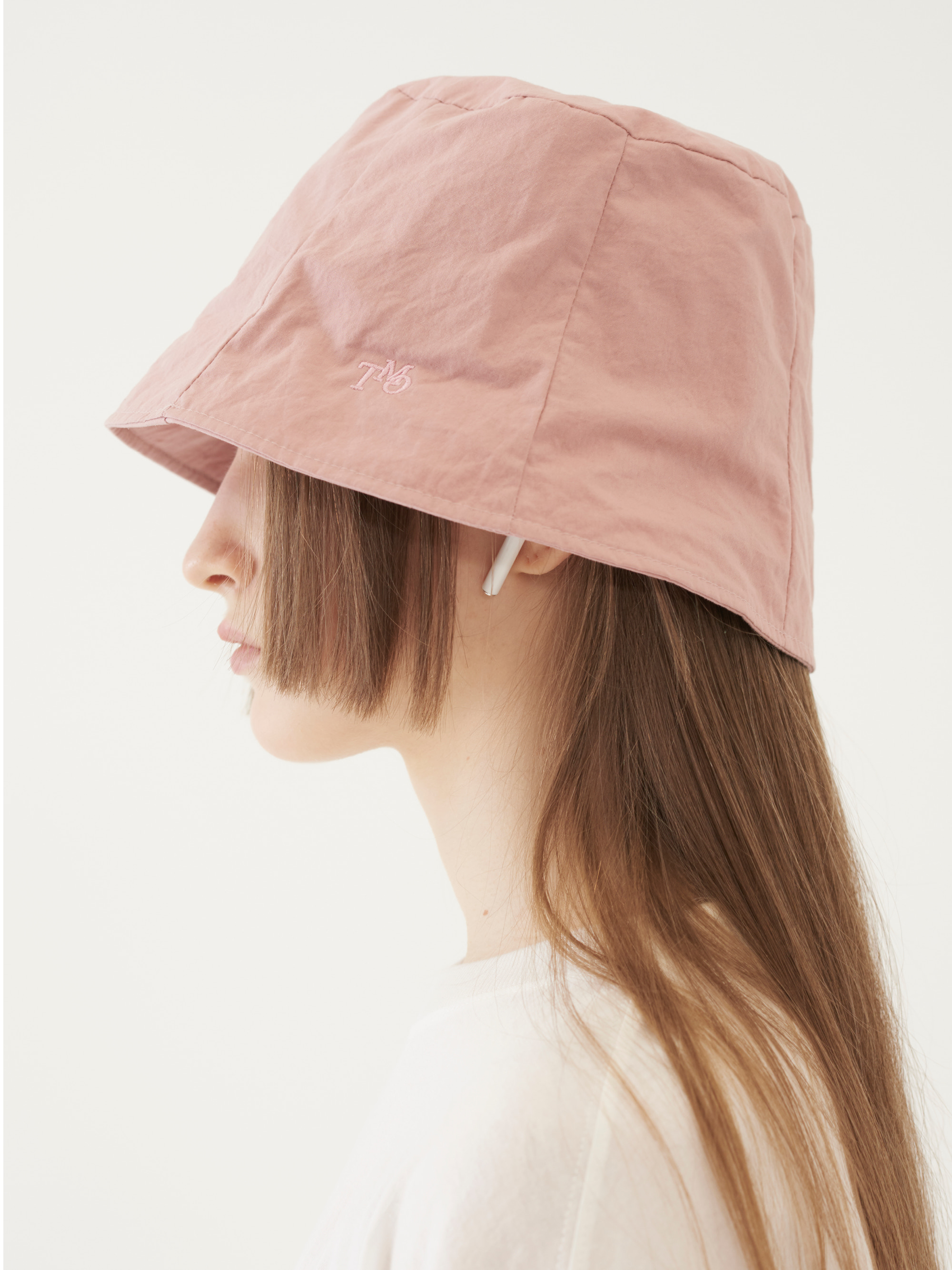 SIGNATURE LOGO BUCKET HAT (PINK)