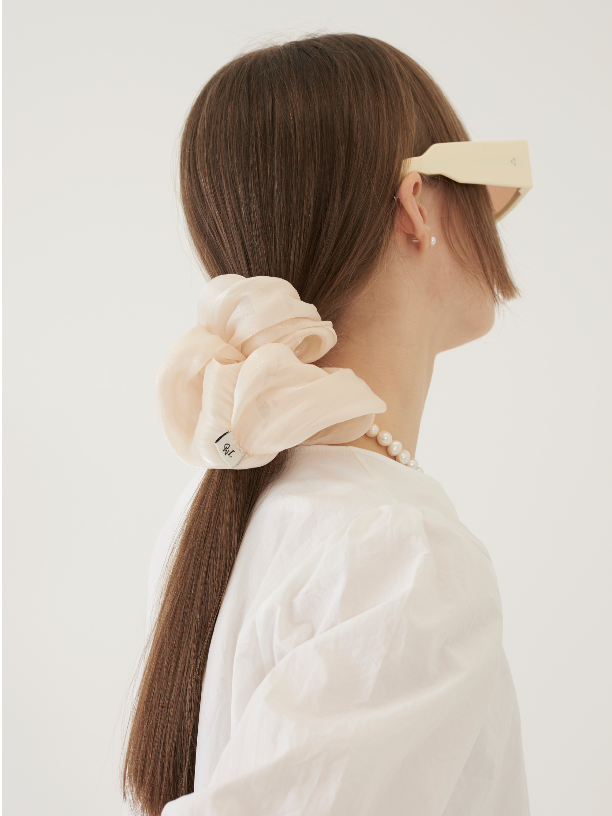 BASIC SHIRRING HAIR BAND (IVORY)