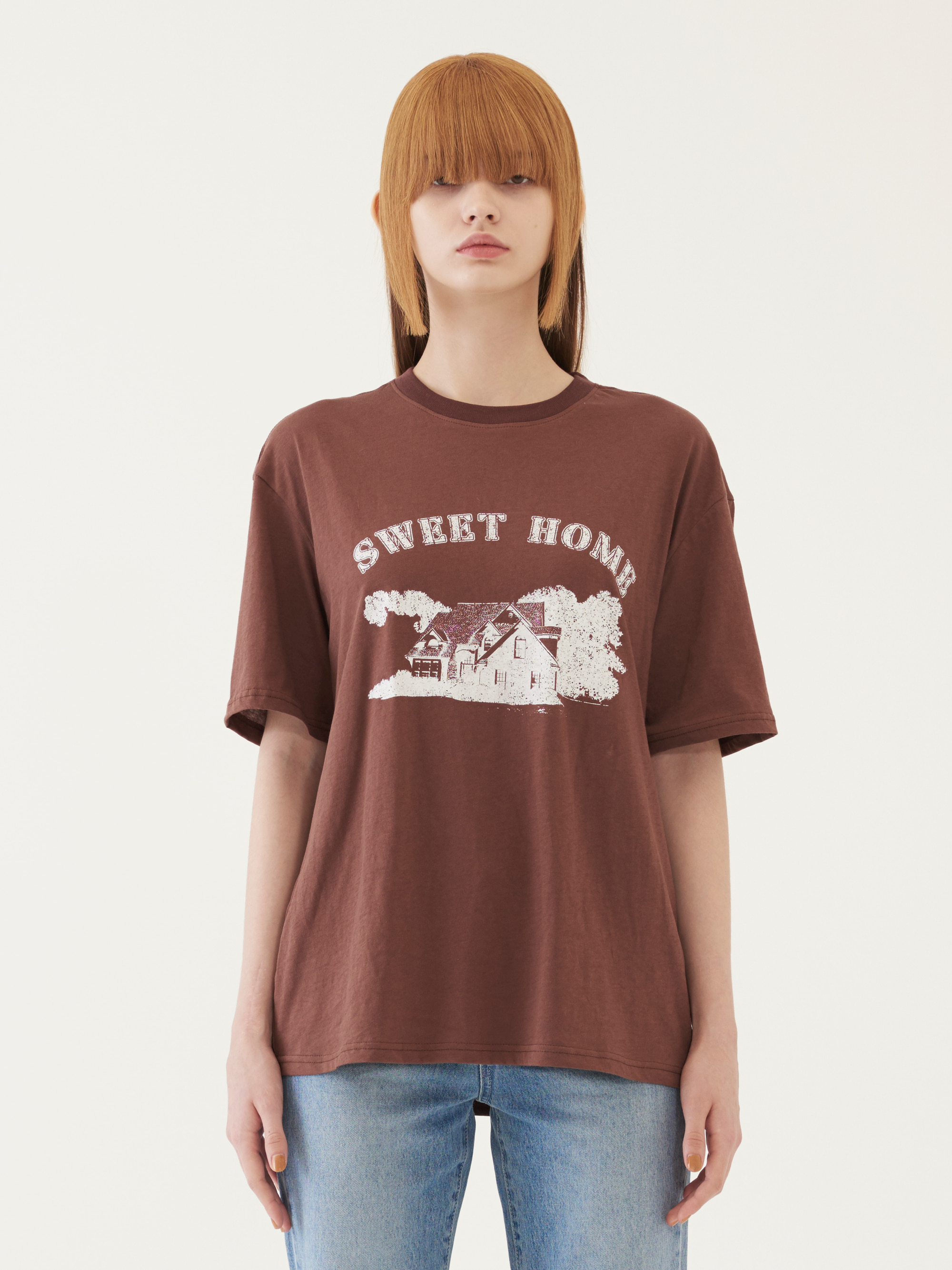 SWEET HOME T-SHORT (BROWN)